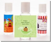 Sweet Pea African American Boy - Personalized Baby Shower Hand Sanitizers Favors