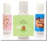 Sweet Pea African American Boy - Personalized Baby Shower Lotion Favors