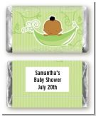 Sweet Pea African American Boy - Personalized Baby Shower Mini Candy Bar Wrappers