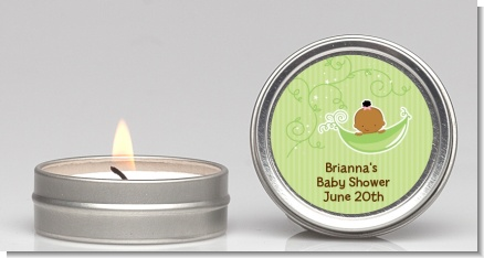 Sweet Pea African American Girl - Baby Shower Candle Favors