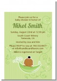Sweet Pea African American Girl - Baby Shower Petite Invitations