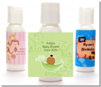 Sweet Pea African American Girl - Personalized Baby Shower Lotion Favors