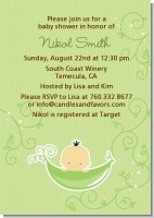 Sweet Pea Asian Boy - Baby Shower Invitations
