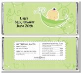 Sweet Pea Asian Girl - Personalized Baby Shower Candy Bar Wrappers