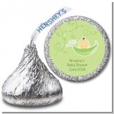 Sweet Pea Asian Girl - Hershey Kiss Baby Shower Sticker Labels