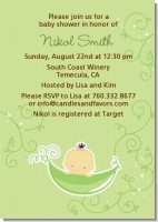 Sweet Pea Asian Girl - Baby Shower Invitations