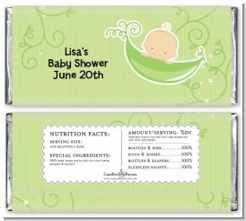 Sweet Pea Caucasian Boy - Personalized Baby Shower Candy Bar Wrappers