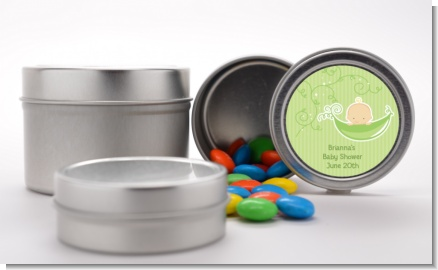 Sweet Pea Caucasian Boy - Custom Baby Shower Favor Tins