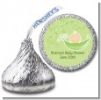 Sweet Pea Caucasian Boy - Hershey Kiss Baby Shower Sticker Labels thumbnail