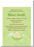 Sweet Pea Caucasian Boy - Baby Shower Petite Invitations
