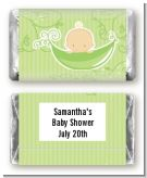Sweet Pea Caucasian Boy - Personalized Baby Shower Mini Candy Bar Wrappers