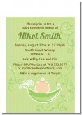 Sweet Pea Caucasian Girl - Baby Shower Petite Invitations
