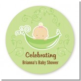 Sweet Pea Caucasian Girl - Personalized Baby Shower Table Confetti