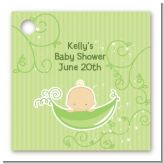 Sweet Pea Caucasian Boy - Personalized Baby Shower Card Stock Favor Tags