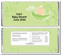 Sweet Pea Caucasian Girl - Personalized Baby Shower Candy Bar Wrappers