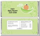 Sweet Pea Hispanic Boy - Personalized Baby Shower Candy Bar Wrappers