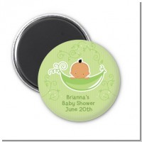 Sweet Pea Hispanic Boy - Personalized Baby Shower Magnet Favors