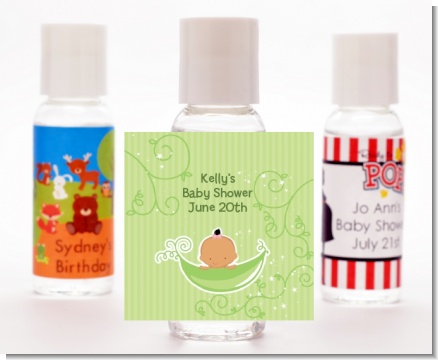 Sweet Pea Hispanic Girl - Personalized Baby Shower Hand Sanitizers Favors