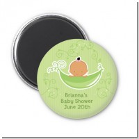 Sweet Pea Hispanic Girl - Personalized Baby Shower Magnet Favors
