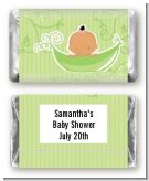 Sweet Pea Hispanic Girl - Personalized Baby Shower Mini Candy Bar Wrappers
