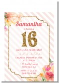 Sweet Sixteen - Birthday Party Petite Invitations
