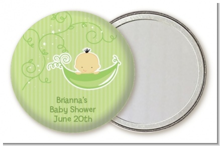 Sweet Pea Asian Boy - Personalized Baby Shower Pocket Mirror Favors