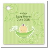 Sweet Pea Asian Girl - Personalized Baby Shower Card Stock Favor Tags