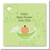 Sweet Pea Hispanic Boy - Personalized Baby Shower Card Stock Favor Tags