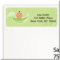 Sweet Pea Hispanic Girl - Baby Shower Return Address Labels