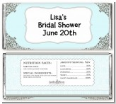 Light Blue & Grey - Personalized Bridal Shower Candy Bar Wrappers