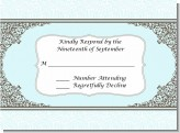 Light Blue & Grey - Bridal Shower Response Cards