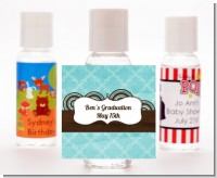 Teal & Brown - Personalized Graduation Party Hand Sanitizers Favors