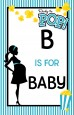 Ready To Pop Teal - Personalized Baby Shower Nursery Wall Art thumbnail