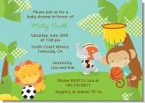 Team Safari - Baby Shower Invitations