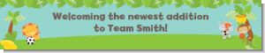 Team Safari - Personalized Baby Shower Banners