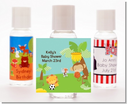 Team Safari - Personalized Baby Shower Hand Sanitizers Favors