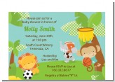 Team Safari - Baby Shower Petite Invitations