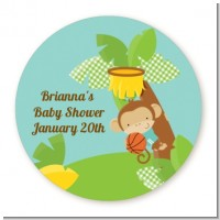 Team Safari - Round Personalized Baby Shower Sticker Labels