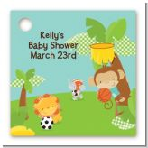 Team Safari - Personalized Baby Shower Card Stock Favor Tags