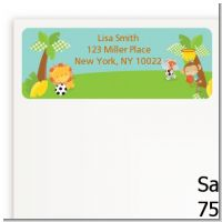 Team Safari - Baby Shower Return Address Labels