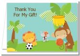 Team Safari - Baby Shower Thank You Cards