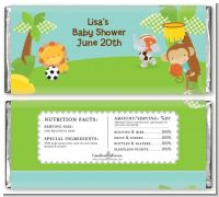 Team Safari - Personalized Baby Shower Candy Bar Wrappers