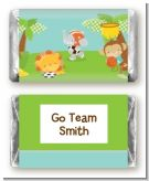 Team Safari - Personalized Baby Shower Mini Candy Bar Wrappers