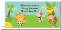 Team Safari - Personalized Baby Shower Place Cards