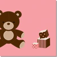 Teddy Bear Pink Baby Shower Theme