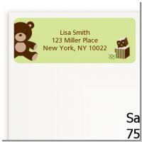 Teddy Bear Neutral - Baby Shower Return Address Labels