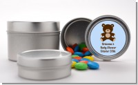 Teddy Bear Blue - Custom Baby Shower Favor Tins