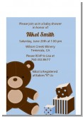 Teddy Bear Blue - Baby Shower Petite Invitations