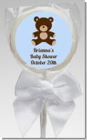 Teddy Bear Blue - Personalized Baby Shower Lollipop Favors