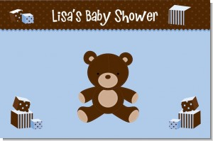 Teddy Bear Blue - Personalized Baby Shower Placemats